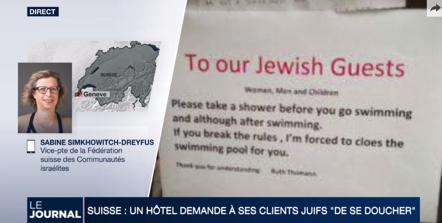 Scandale Note antisémite dans un hôtel d'Arosa