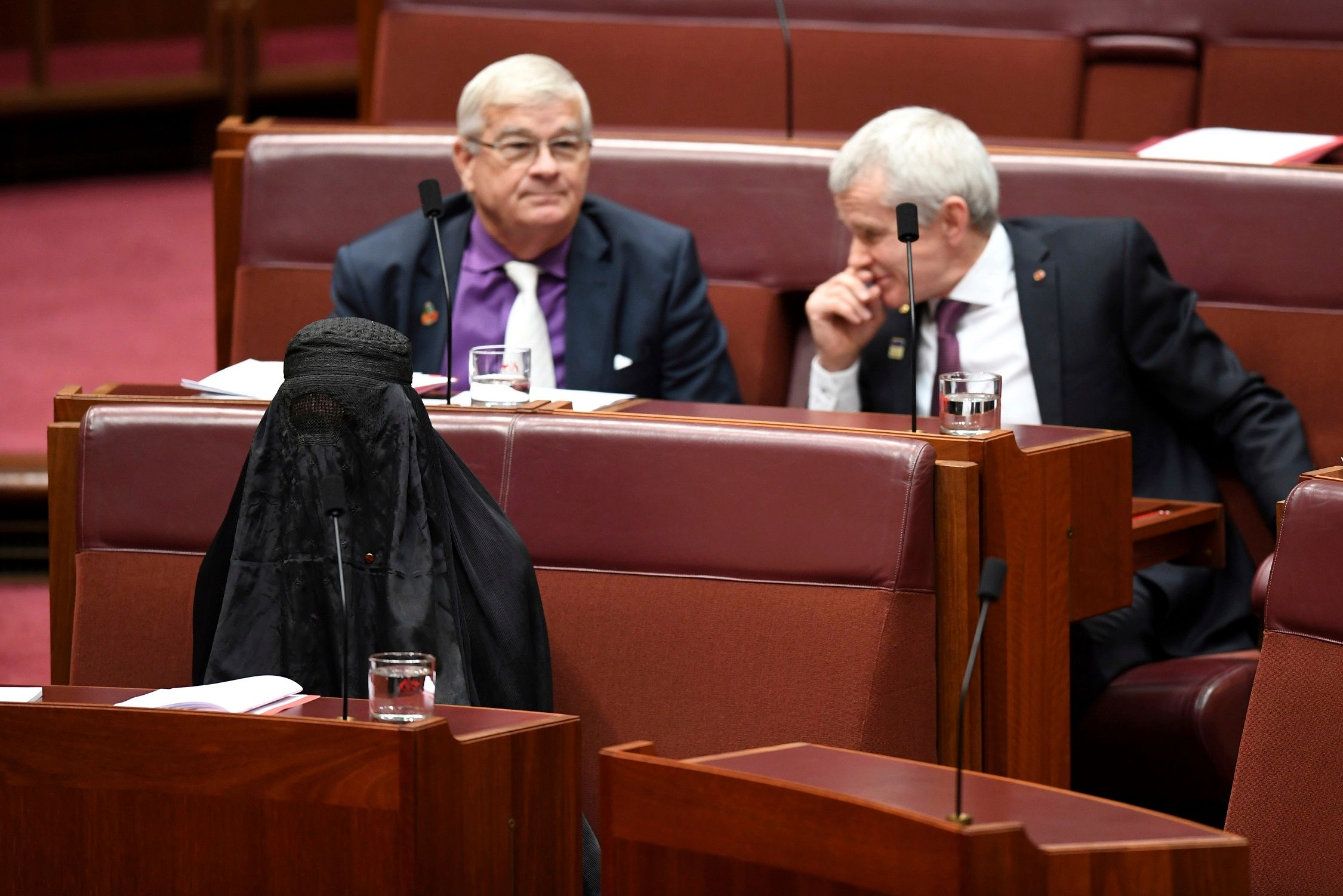 Australian anti-immigration senator wears burqa to parliament, sparking debate