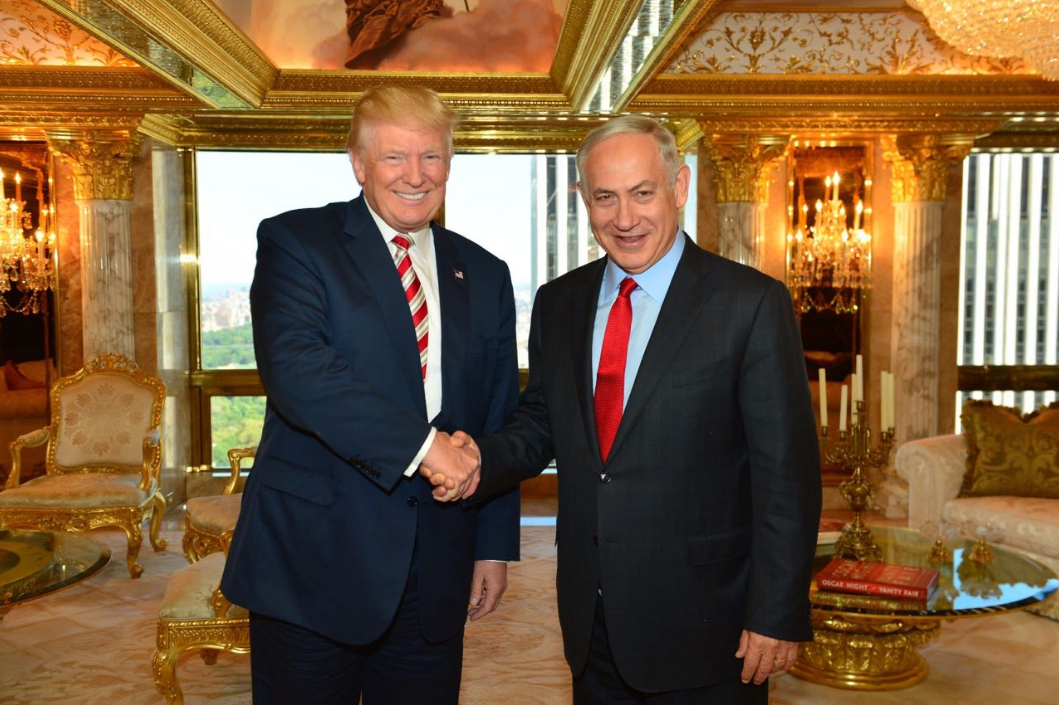 Republican Presidential candidate Donald Trump meets Israeli Prime Minister Benjamin Netanyahu at Trump Towers in New York City, September 25, 2016