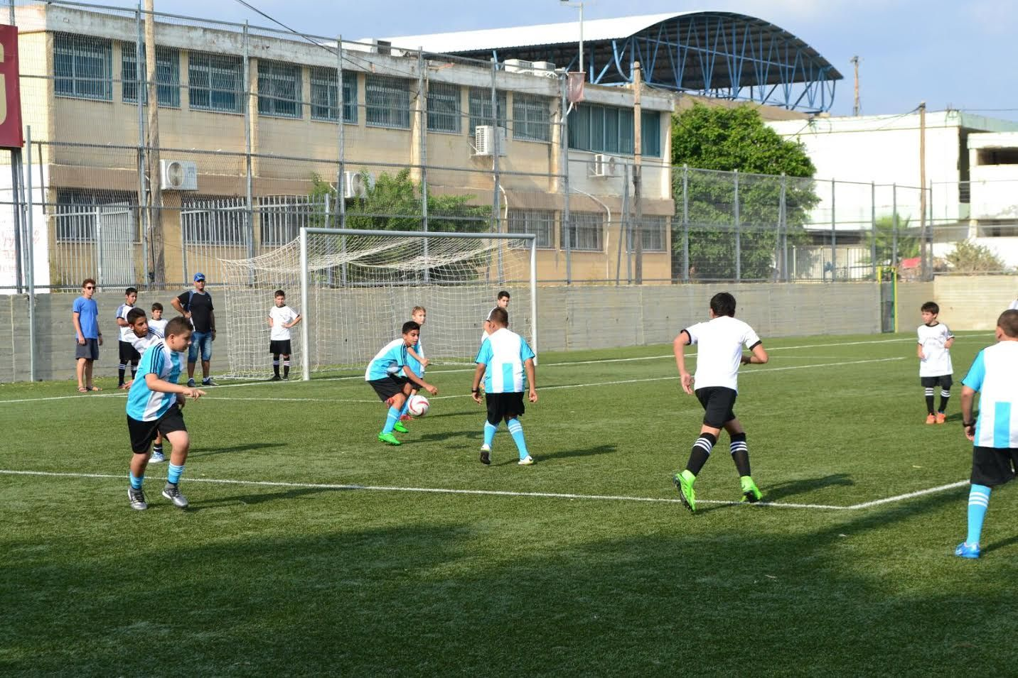 'Germany' play 'Argentina' at the Soccer for Peace Summer camp