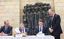 Le chancelier autrichien en visite en Israël