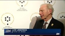 Former US Senator Joe Lieberman speaks to i24NEWS, February 11, 2018