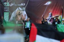 In this Monday, Dec. 14, 2015 file photo, Hamas leader Ismail Haniya, waves to supporters during a rally.