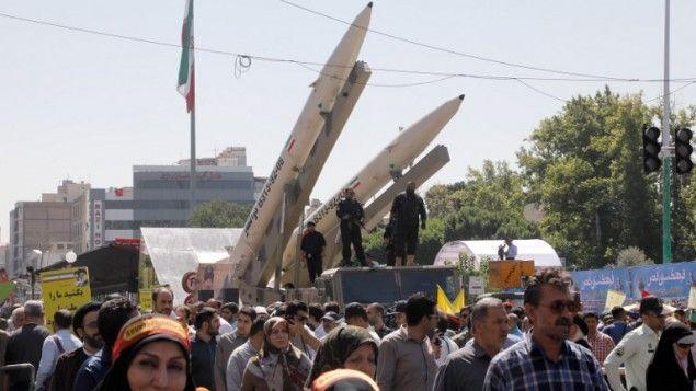 L'armée iranienne utilise l'étoile de David comme cible pour ses missiles