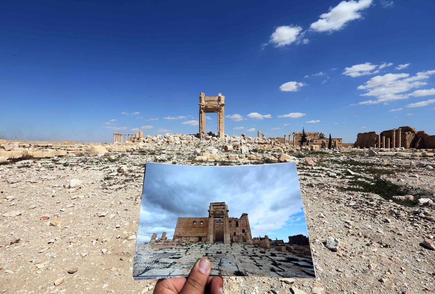 Ruins of the Temple of Bel in Palmyra