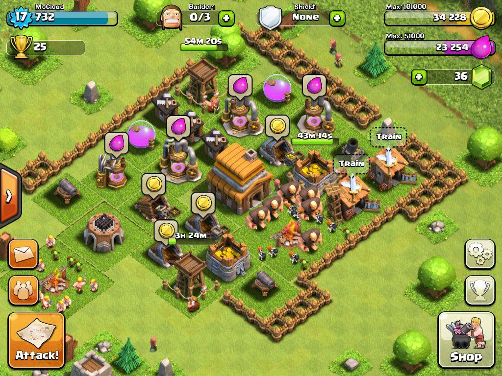 Les jeux sur Tablettes et SmartPhone Clash-of-clans_10