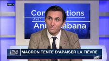 """""""Macron a engagé une épreuve de force et il a perdu"""" (J. Aubert à i24NEWS)"""