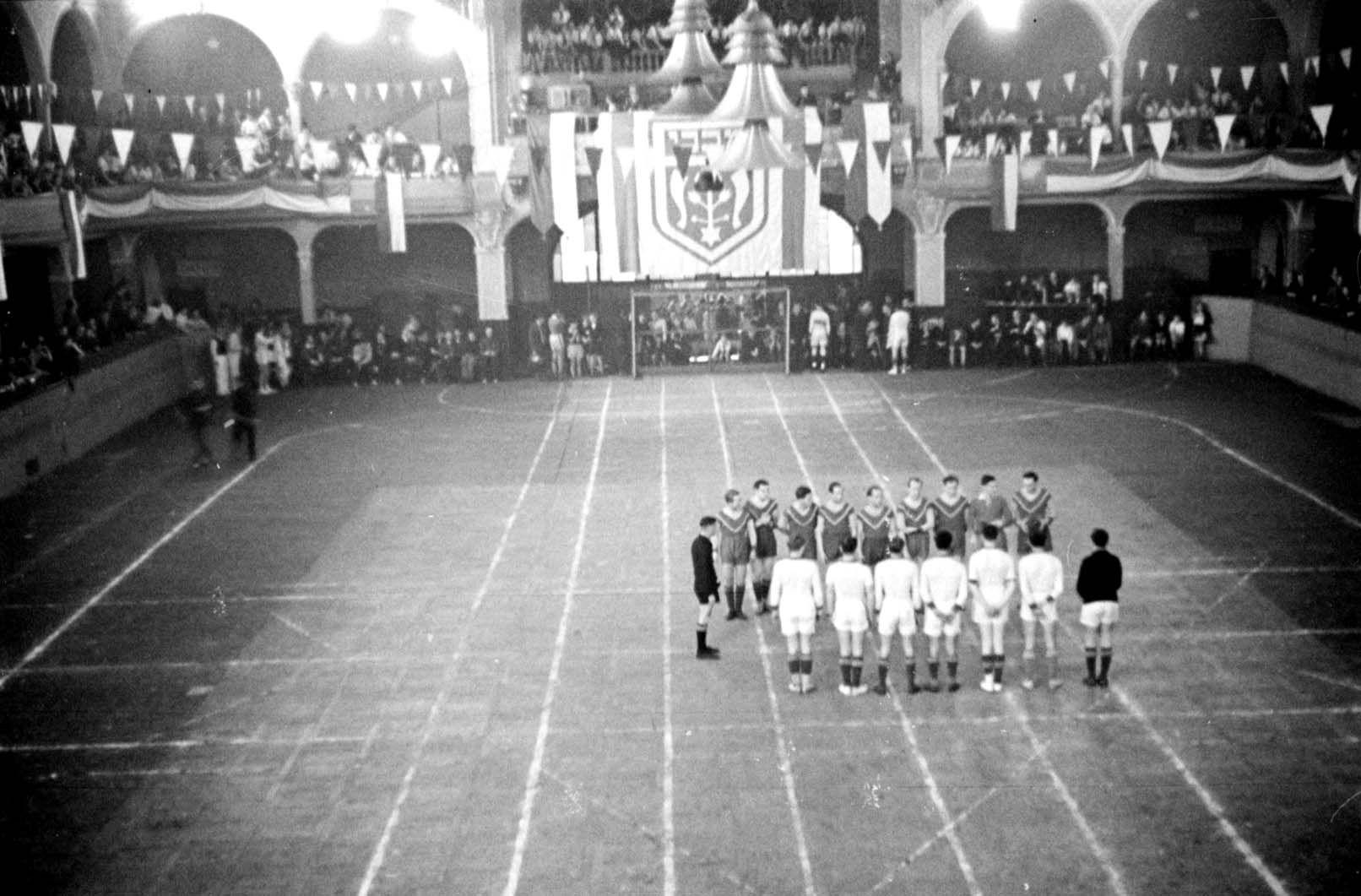 Handball match at the Maccabiah, November-December 1936, Berlin, Germany