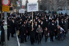 Contentious ultra-Orthodox draft law passes first reading in divided Knesset