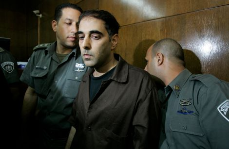 Yigal Amir, the convicted assassin of late Israeli Prime Minister Yitzhak Rabin, is seen during a court hearing in Tel Aviv, Israel, Thursday, Nov. 1, 2007.