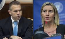 Vif échange entre un ministre israélien et la cheffe de la diplomatie de l'UE