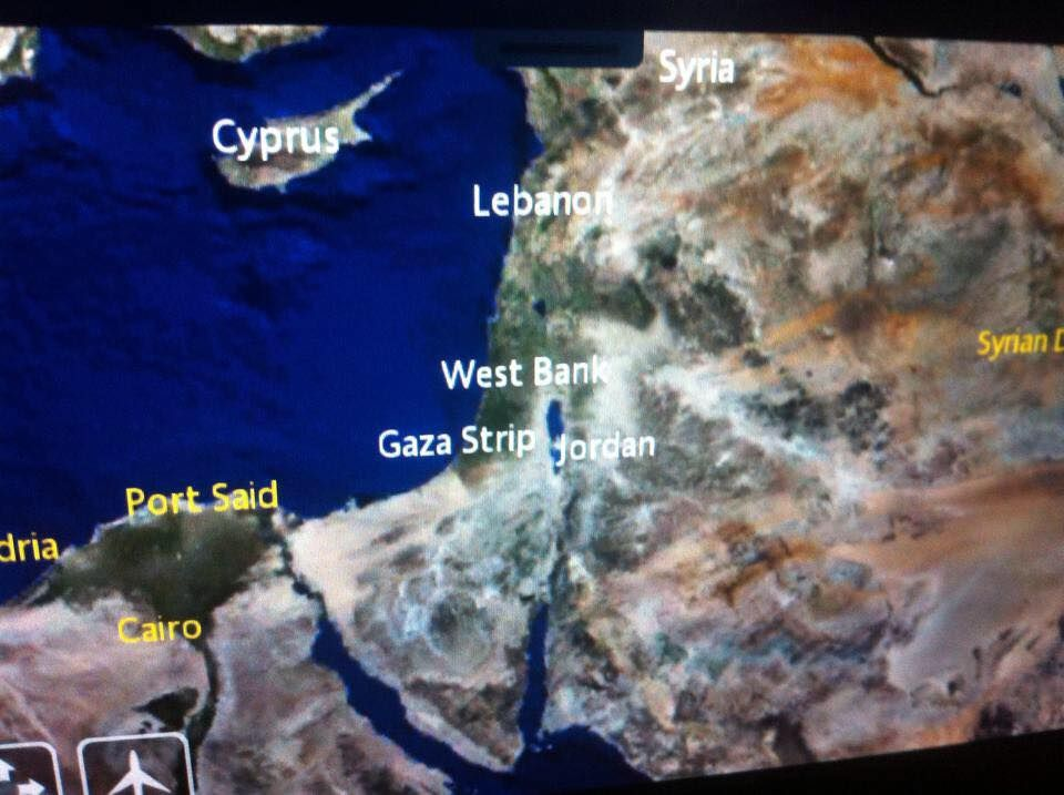 INEWS Israel MIA From Air France Flightmap - Airline flights map of france to us