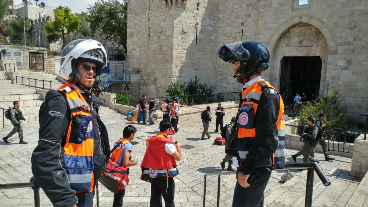 Attempted stabbing at Jerusalem's Damascus Gate, attacker shot dead