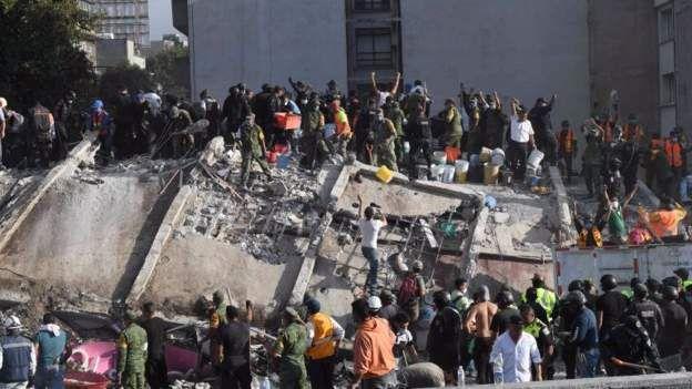 Séisme au Mexique: au moins 21 enfants tués dans l'effondrement d'une école