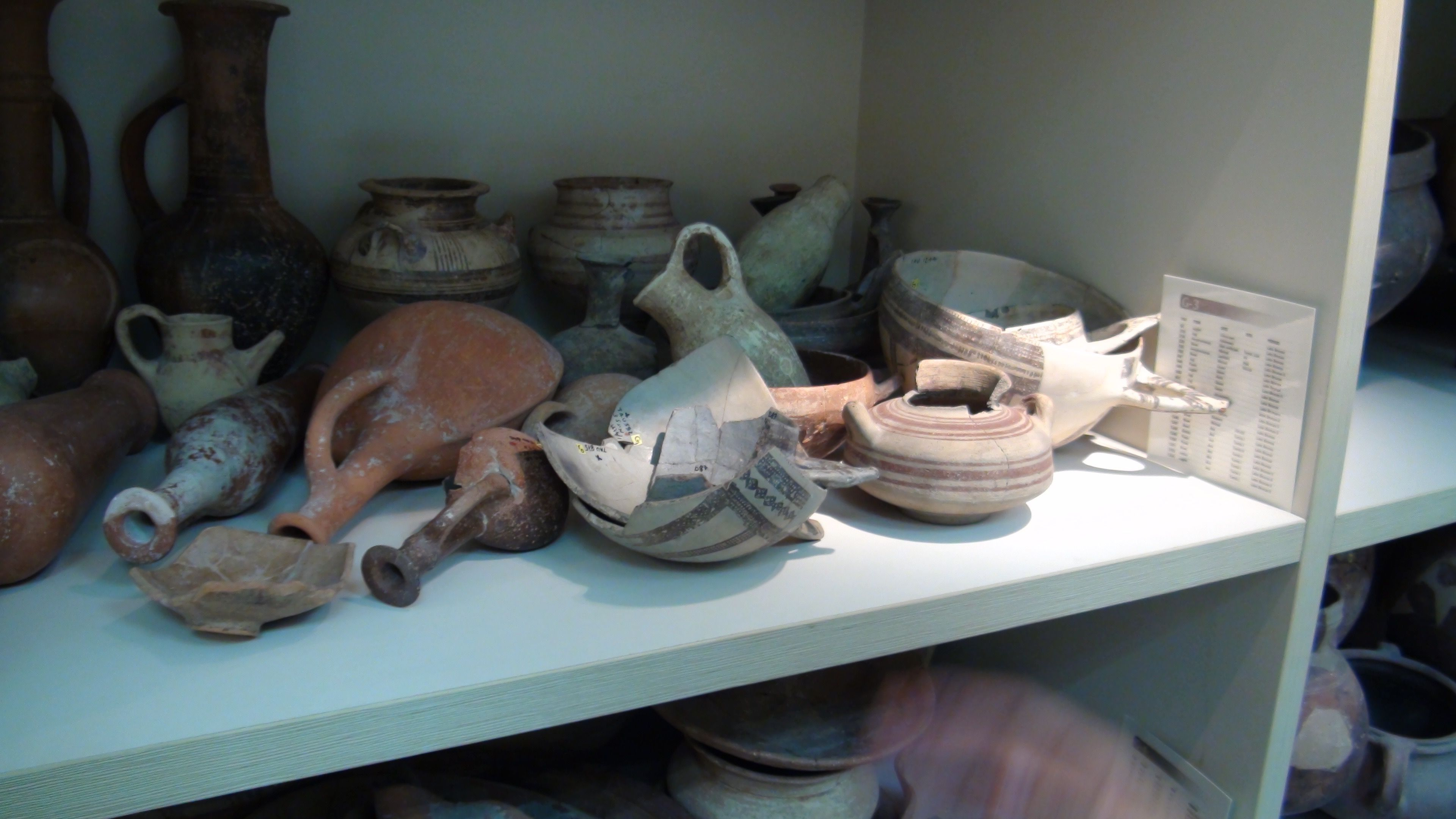 Bronze Age Pottery in the TAU Educational Collection - Used for teaching students on the material culutures of the Land of Israel