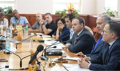 Netanyahou lors d'une réunion ministérielle le 17.09.2018