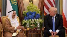 L'Emir du Koweït, Cheikh Sabah Al-Ahmad Al-Jaber Al-Sabah et Donald Trump à Ryad.