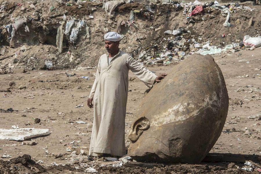 Egypte: découverte exceptionnelle d'une probable statue de Ramsès II