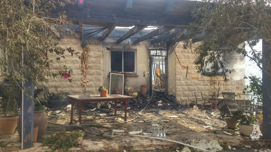 Police say two homes have been destroyed by the fire burning by Nataf in the Jerusalem HIlls