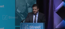 Chairman of the Joint List Ayman Odeh delivers the keynote address at the 2017 J Street Conference