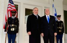 Prime Minister Benjamin Netanyahu meets US Vice President Mike Pence in Washington DC, Feburary 16, 2017
