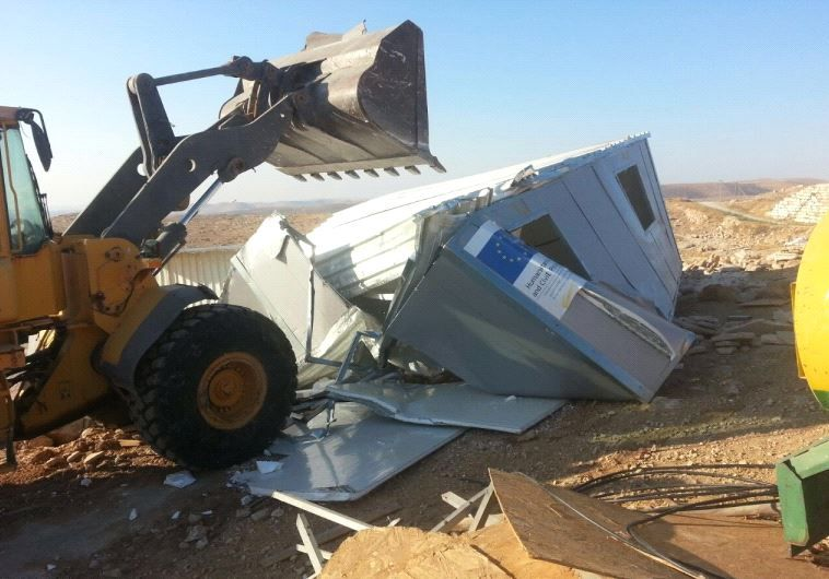 Israel lambasts E.U. for being 'obsessed' with West Bank demolitions