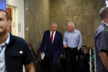 FILE: Israeli Prime Minister Benjamin Netanyahu, left, and former Housing Minister Yoav Galant, arrive for the weekly cabinet meeting at the Prime Minister's office in Jerusalem, Sunday, May 15, 2016.