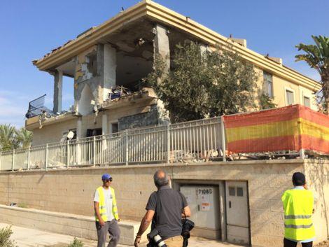 La maison israélienne sur laquelle s'est écrasée une roquette envoyée depuis la bande de Gaza, le 17 octobre 2018