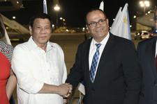 Le président philippin Duterte début de sa visite officielle en Israël