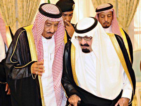 نتيجة بحث الصور عن الملك سلمان والملك عبد الله