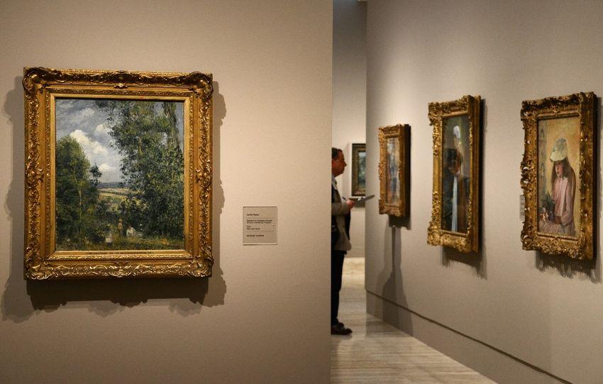 Illustration - L'ouverture de la première exposition monographique en Espagne sur le peintre impressionniste danois-français Camille Pissarro au musée Thyssen-Bornemisza de Madrid, le 3 juin 2013