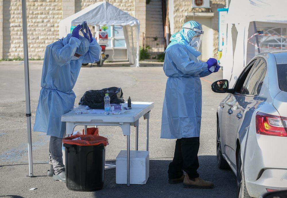 Tests de dépistage du coronavirus en Israël