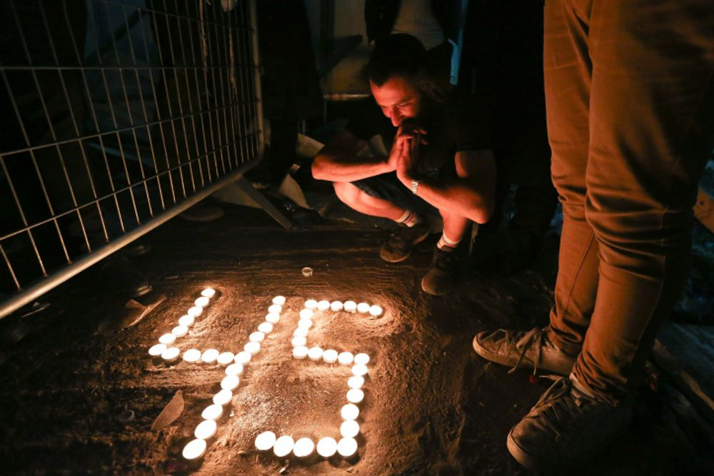 Ultra-Orthodox Jews light candles for the 45 victims who were killed in a stampede at Mt Meron. May 01, 2021.