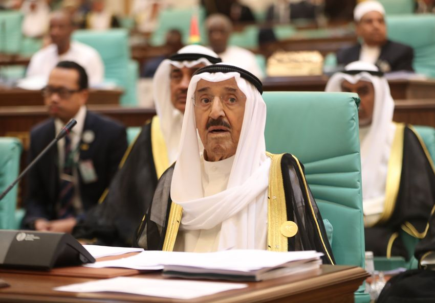 The Emir of Kuwait, Sheikh Jaber al-Ahmad al-Sabah, attends the opening session of a summit of 57 members of the Organization of Islamic Cooperation (OIC) in the Saudi Arabia - June 1, 2019