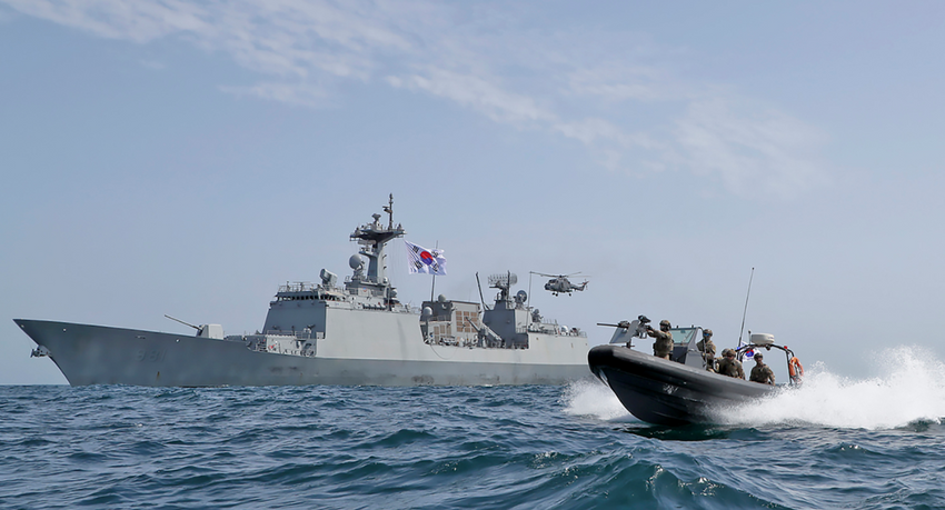 South Korean Navy on Tuesday deployed a destroyer, ROKS Choi Young (pictured), to the Persian Gulf after Iran seized a tanker in the area - Jan. 5, 2021