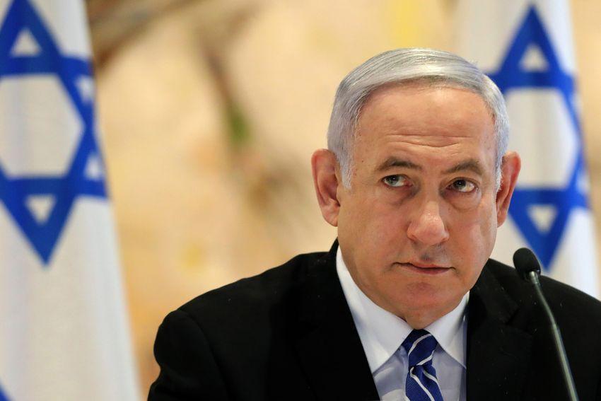 Le Premier ministre israélien Benyamin Netanyahou lors d'une réunion du cabinet du nouveau gouvernement à la Knesset (Parlement israélien) à Jérusalem le 24 mai 2020