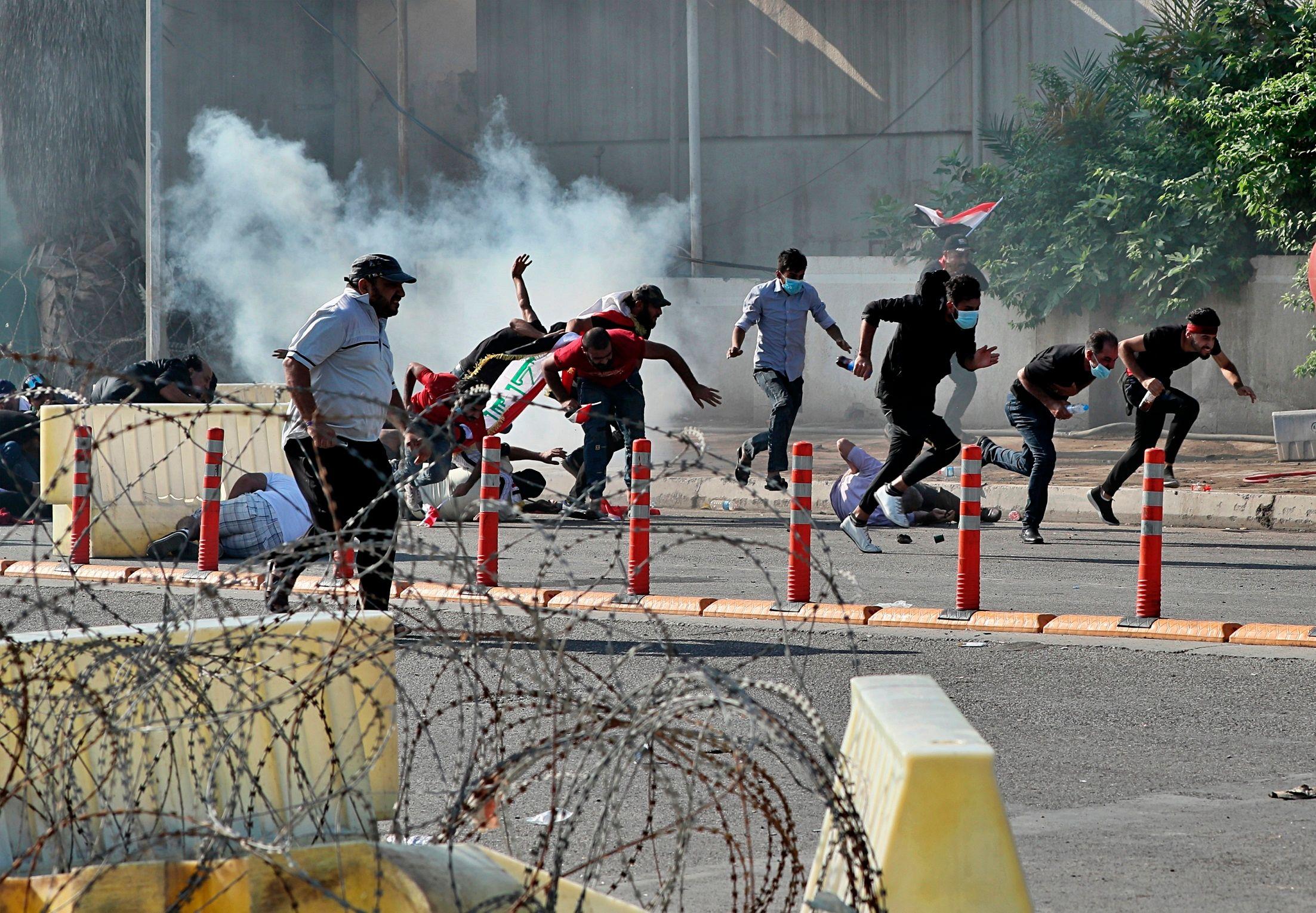 Nouvelles Manifestations à Bagdad Avant Une