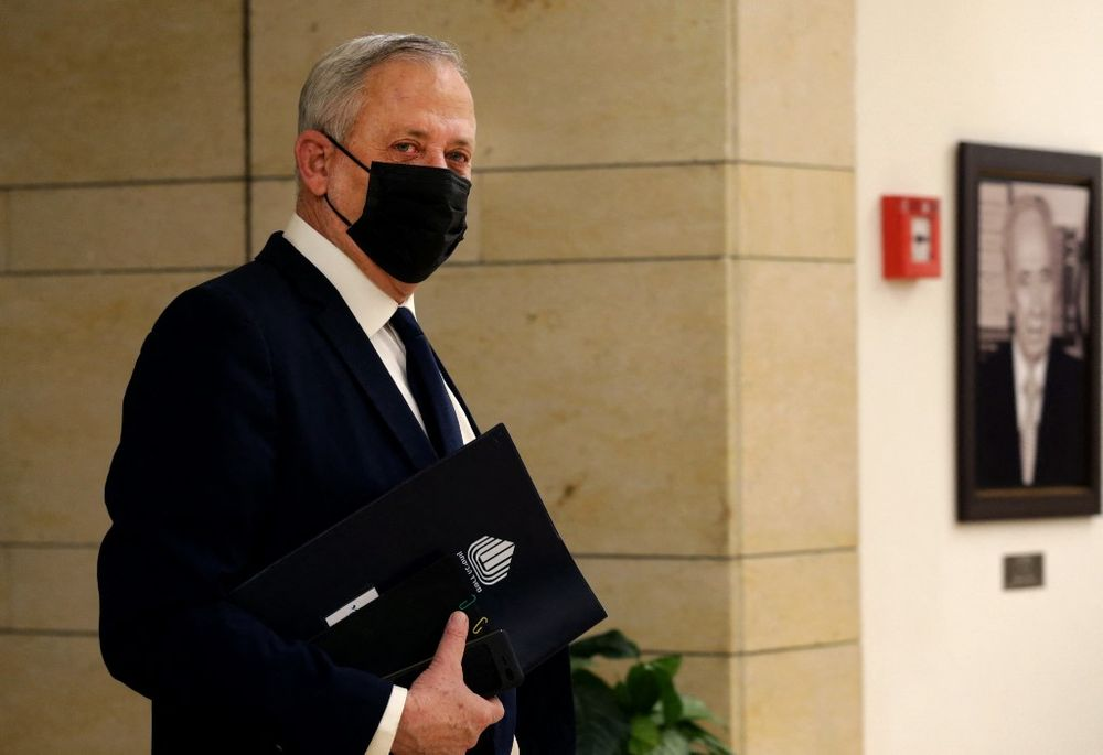 Le ministre israélien de la Défense, Benny Gantz, à la Knesset à Jérusalem, le 2 décembre 2020.