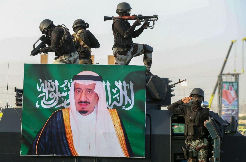 القوات المسلحة السعودية تشارك في عرض عسكري في مدينة مكة