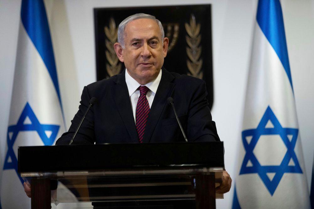 Israeli Prime Minister Benjamin Netanyahu delivers a statement at the Knesset (Israel Parliament) in Jerusalem, on December 22. 2020.