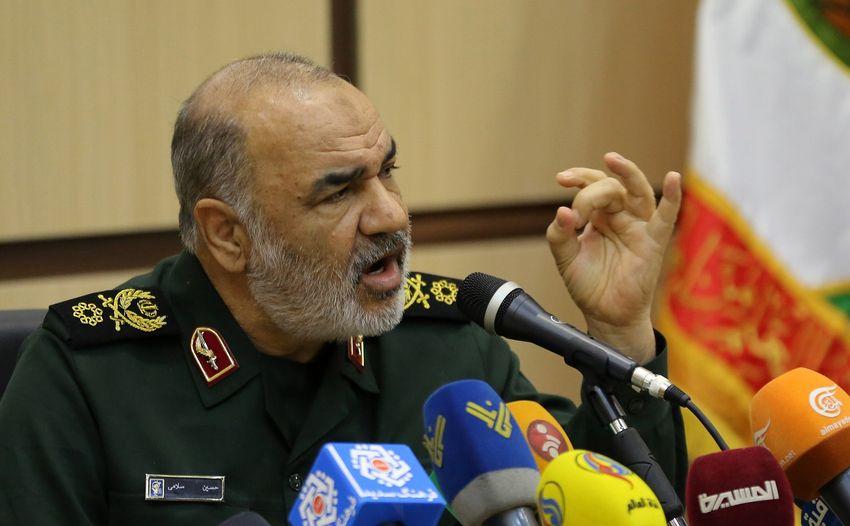 Le général de division Hossein Salami, chef des Gardiens de la révolution, lors d'une conférence sur le quarantième anniversaire de la révolution islamique à Téhéran, le 29 décembre 2018