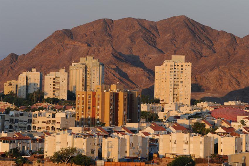 Vista da cidade de Eilat, no sul de Israel, em 29 de julho de 2019.