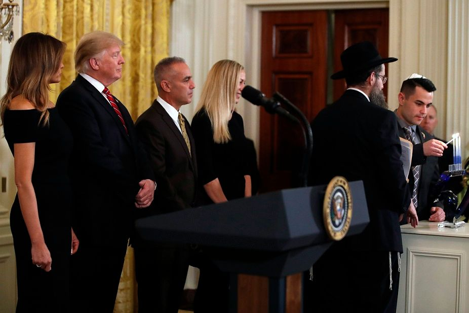 Trump said to have directed Ukrainian pressure campaign at White House Hanukkah party