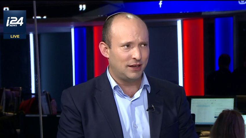Education Minister Naftali Bennett speaking to i24NEWS on April 1, 2019.