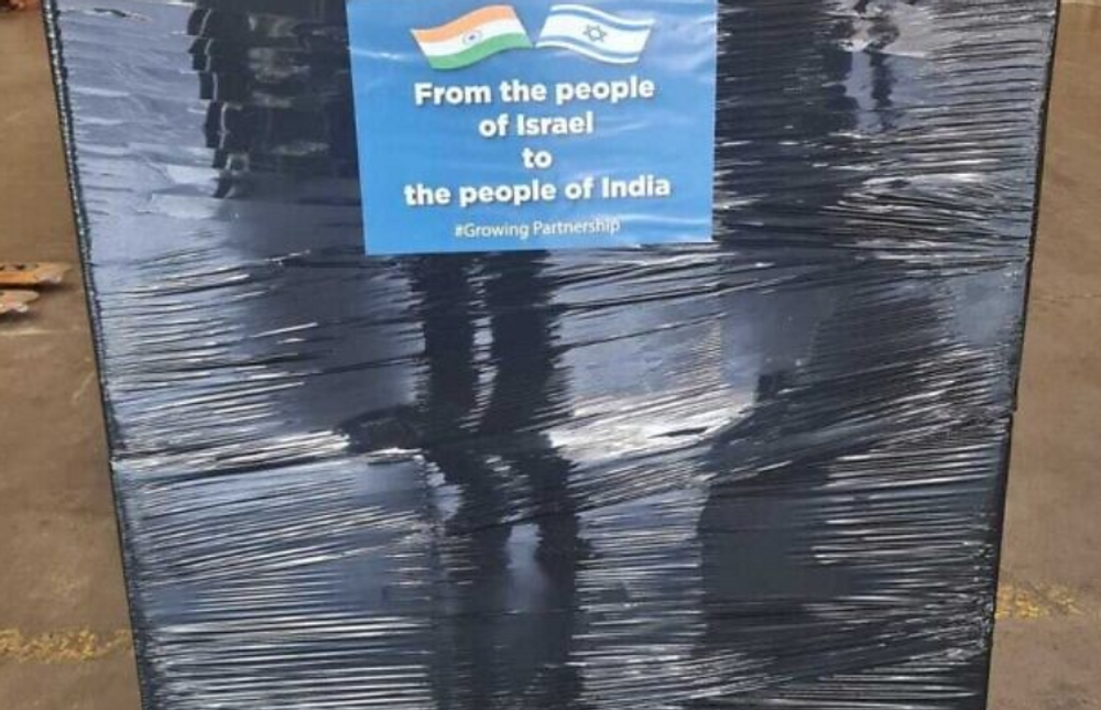 Un envoi de matériel médical d'Israël vers l'Inde