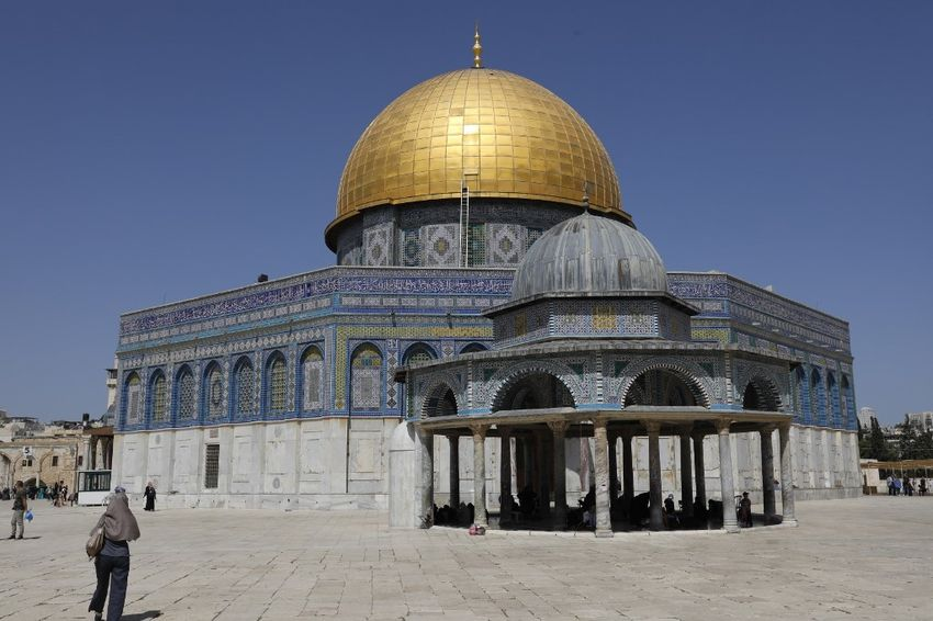 A picture taken on June 2, 2019, the Dome of the Rock at the al-Aqsa mosque compound in Jerusalem's Old City.