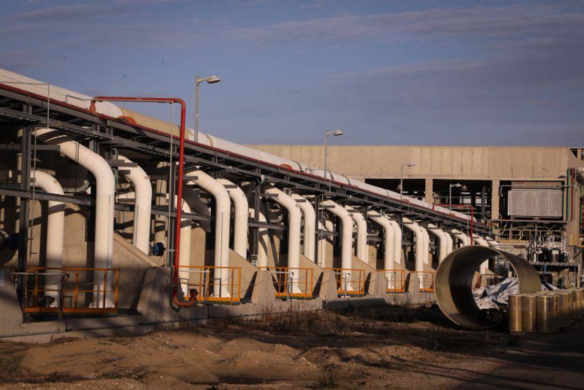 Vue de l'usine de dessalement de Sorek, le 22 novembre 2018.