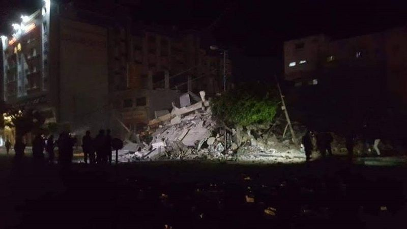 Building in Gaza Strip targeted by Israeli strikes on Monday March 25, 2019