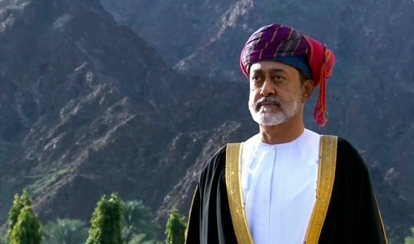 Oman's Sultan Haitham bin Tariq Al Said in Muscat, Oman, on January 11, 2020.