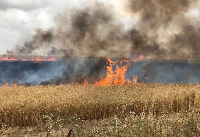 Les incendies provoqués par les ballons incendiaires près de la frontière avec Gaza le 22.05.2019